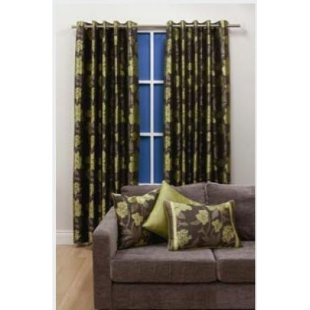 Wisteria Colourway Curtains (Brown/Green) - Spirit of the Home